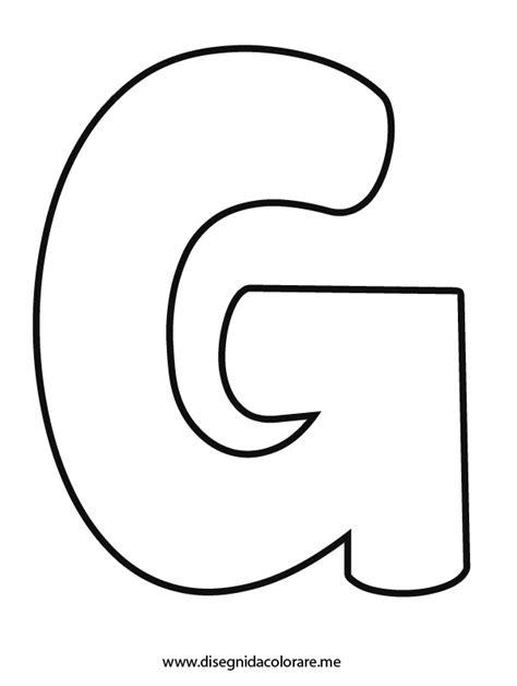 lettere bambini lettera g da colorare disegni da colorare