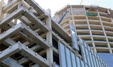 curtain wall installation the maeda mc285 2 minicrane was used to hoist and install