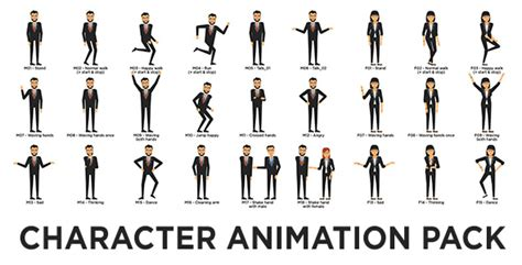 Character Animation Pack Miscellaneous Envato Videohive After Effects Templates After Effects Character Rig Template