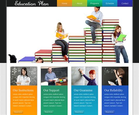 educational templates 22 free education html website templates templatemag