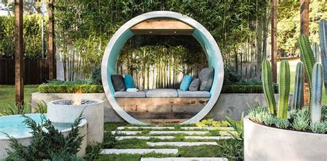 calming garden  elements   concrete pipe pipe