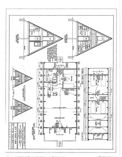 A Frame Cabin Floor Plans | free a frame cabin plans blueprints construction documents