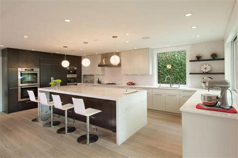 white flat panel kitchen cabinets flat panel cabinets for contemporary kitchen with white