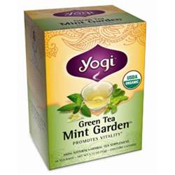yogi tea green tea mint garden caffeine 16 tea bags 1