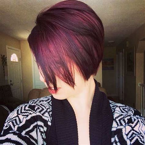 dark red color hair cut 10 chic and showy red pixie hairstyles crazyforus