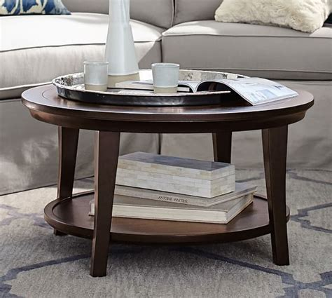 The Dining Room Brooklyn Metropolitan Round Coffee Table Pottery Barn