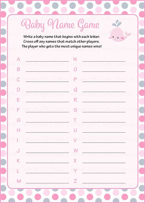theme names for games baby name baby shower game whale baby shower theme for