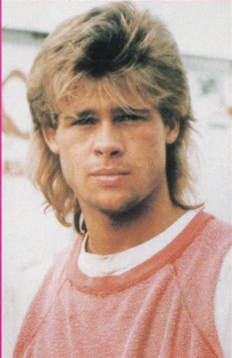 1983 hairstyles of boys brad pitt through childhood high school and college