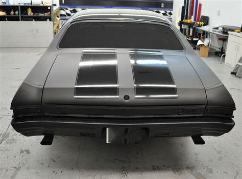flat black color 1968 chevelle matte black color change and gloss black