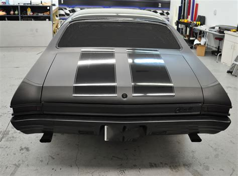Racing Skins » 1968 Chevelle ? Matte Black Paint Wrap with