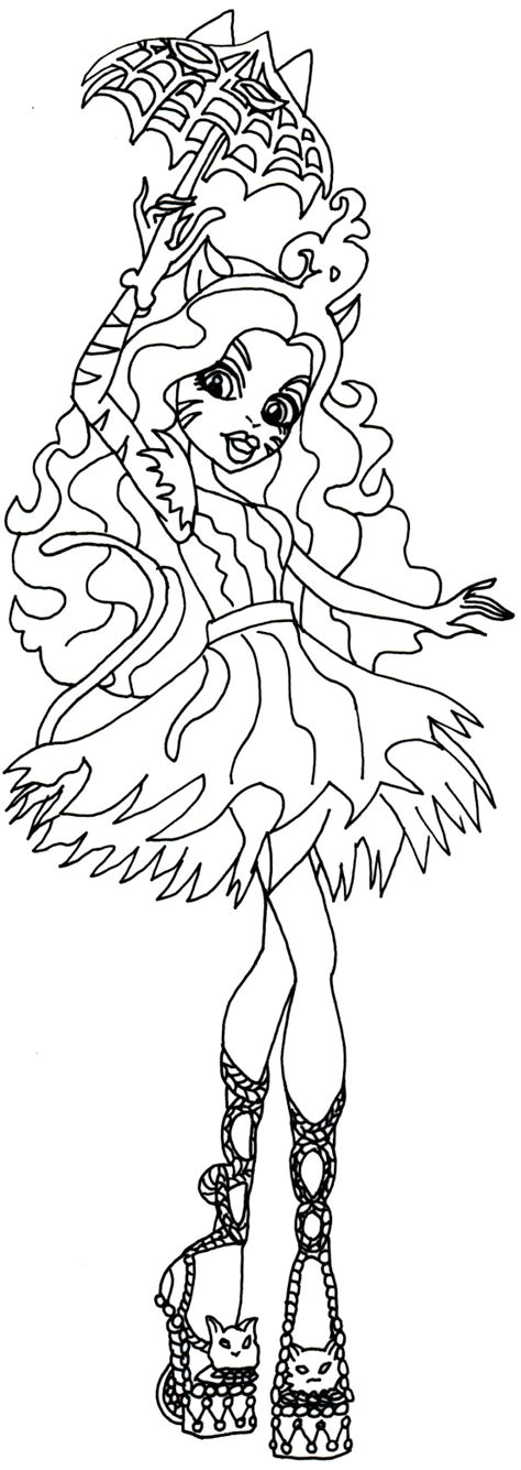 monster high coloring pages great scarrier reef free printable monster high coloring pages toralei stripe