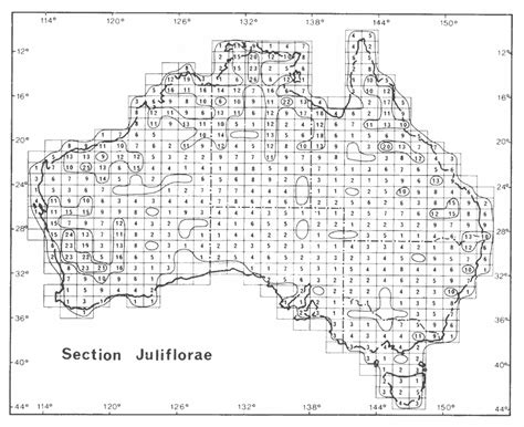 grid pattern geography definition distribution and phytogeography of acacia