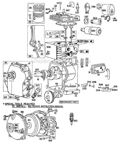 briggs  stratton google search cut  exploded  cool pictures pinterest