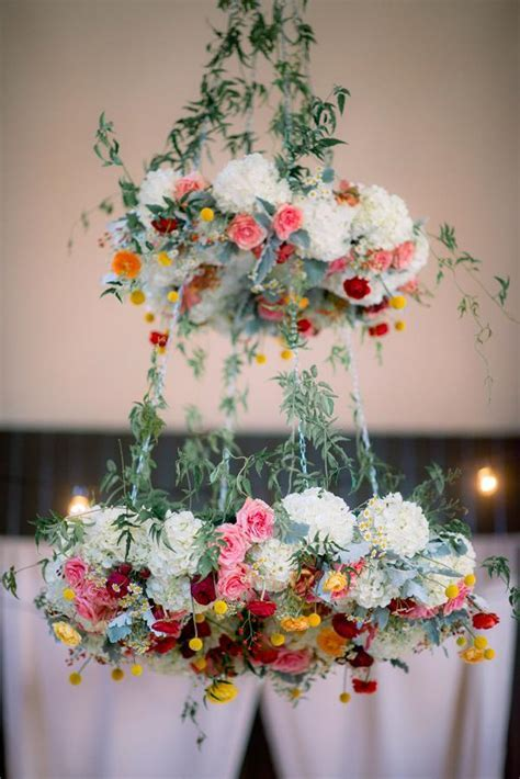 Spring Flower Wedding Chandelier ? Candy Cake Weddings