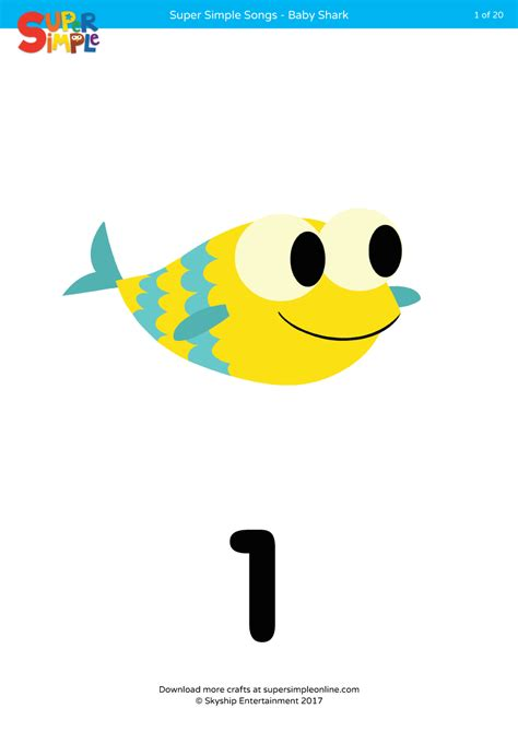 baby shark super simple songs baby shark counting flashcards super simple
