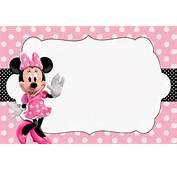 Minnie Rosa Invitaciones Imprimibles Im&225genes Y Fondos