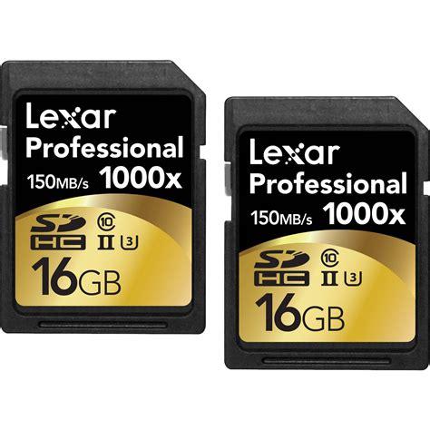 Memory Card Lexar lexar 16gb professional 1000x uhs ii sdhc lsd16gcrbna10002 b h