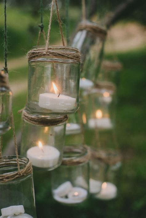detalle decoracion cristal  velas ideas  bodas