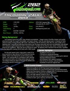 Motocross Sponsorship Resume by Motocross Sponsor Resume