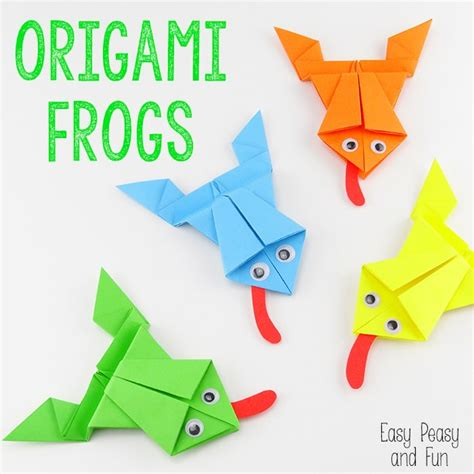 How To Make Origami Paper Folding - origami frogs tutorial origami for easy peasy and