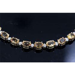 8 05ct Imperial Golden Topaz 20 05ct imperial topaz 14k white gold bracelet