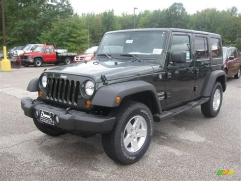 green jeep wrangler unlimited 2011 green pearl jeep wrangler unlimited sport 4x4