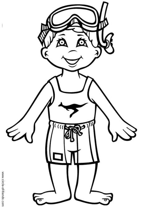 coloring page boy swimming swimming coloring pages for kids az coloring pages