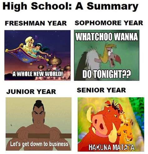 High School Senior Meme - high school disney style