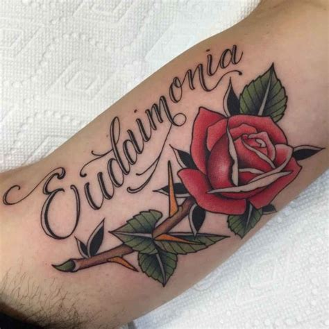 tattoo lettering rose rose with lettering tattoo best tattoo ideas gallery