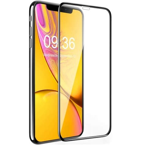 bovon verre tremp 233 pour iphone xr cadre d alignement 3d couverture compl 232 te duret 233 9h