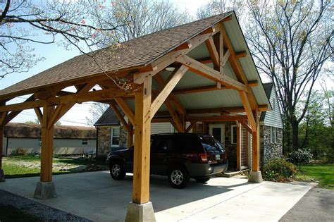 24x36 Garage Plans by Heavy Timber Porte Cochere In East Tennessee Craftsman