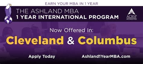 Mba 1 Year Course by Ashland Higher Education In Ohio