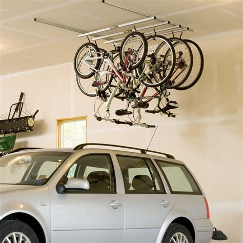 ceiling mount bike rack saris cycle glide 4 bike ceiling mount storage rack