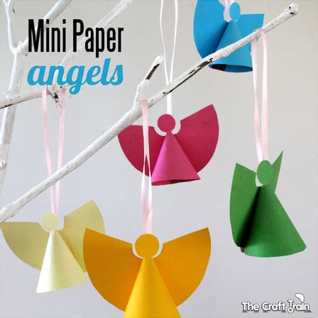 mini paper angel templates