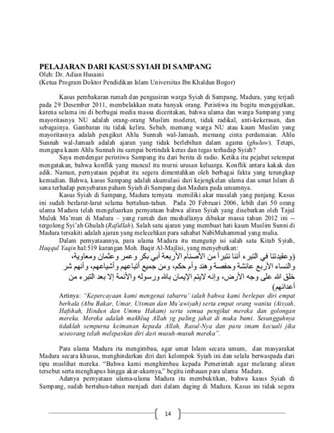 Dari New Modernism Kw Islam Liberal Prof Dr Abd Ala kritik solusi syiah di indonesia