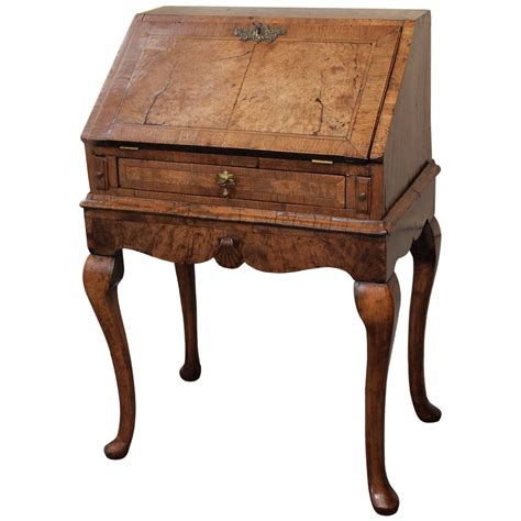 antique ladies desk for sale antique english walnut quot ladies quot slant front desk at 1stdibs