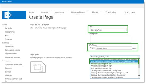 create sharepoint site template stage 7 upload page layouts and create new pages in a