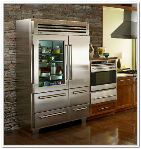Have A Glass Front Refrigerator Residential In Your Home Refrigerator With Glass Door For Homes
