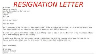 Resignation Letter End Of Contract printable sample letter of resignation form Resignation Letter Format Due To End Of Contract