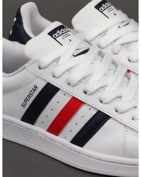 Adidas Blue List White adidas trainers adidas superstar foundation trainers white