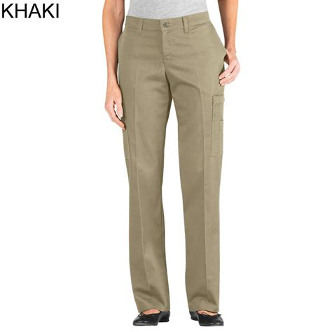 relaxed khaki dickies s premium relaxed fit leg cotton cargo pant fp337 fpw337