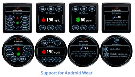 my at t app android my diabetes app now with android wear support best android wear apps
