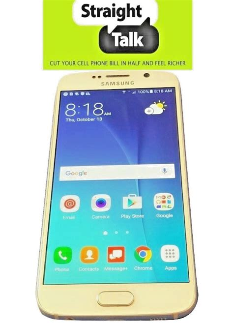 straight talk on trade 0691177848 samsung galaxy s6 vi straight talk verizon towers white sm g920v unlocked ebay