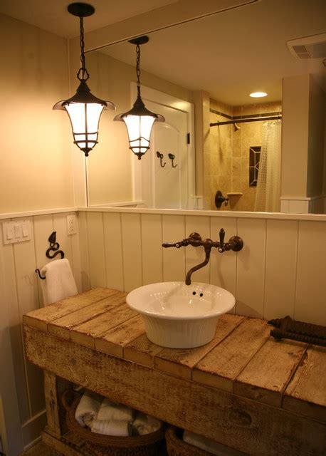 lake house bathroom ideas bathroom cottage craftsman lake house pendant l design