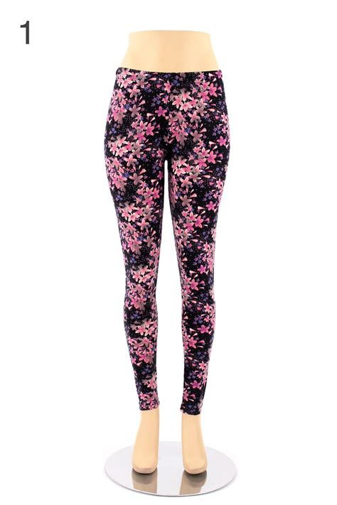 plus size patterned leggings womens plus size leggings print pattern floral color