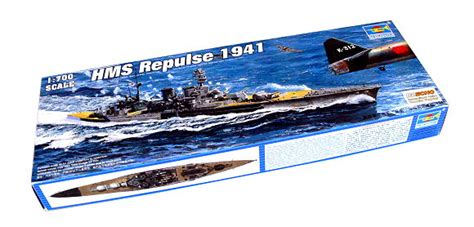 Trumpeter 05740 1 700 Scale Hms Battleship 1941 Plastic Assembly trumpeter model 1 700 war ship hms repulse 1941 scale hobby 05763 p5763 ship boat