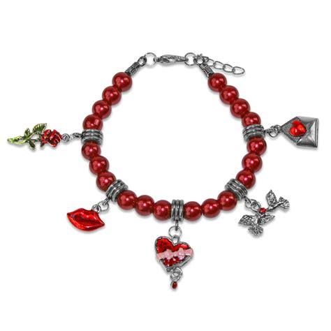 valentines day bracelets valentines day charm bracelet in silver