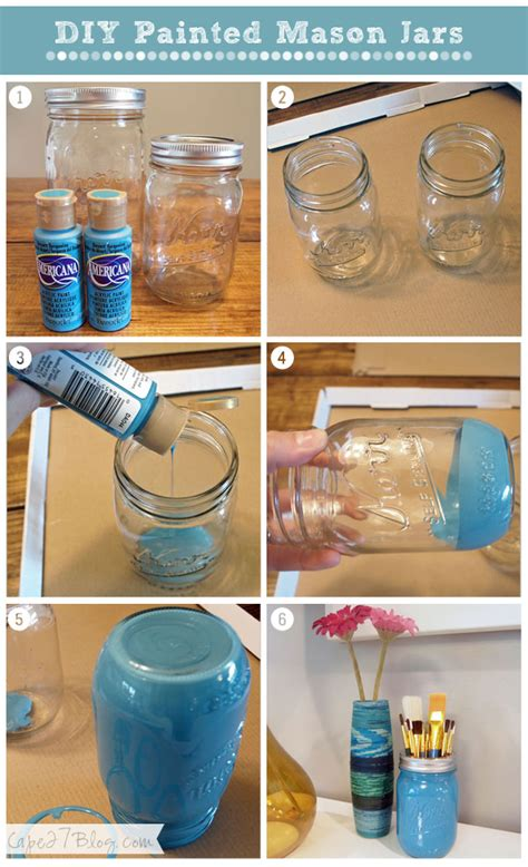 How Can I Decorate My Bathroom by Diy Painted Mason Jars