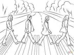 the beatles abbey road cover photo coloring page free