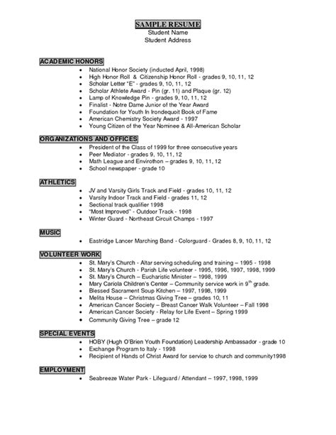 Resume Exles Of Volunteer Experience Resume Writing Career Services